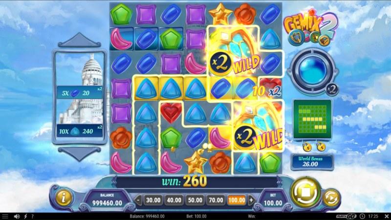 Gemix 2 :: Multiple winning combinations