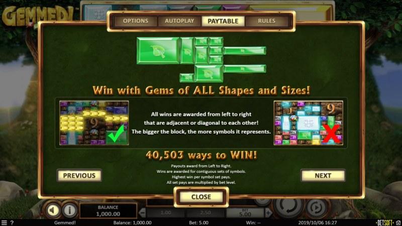 Gemmed! :: 40,503 Ways to Win