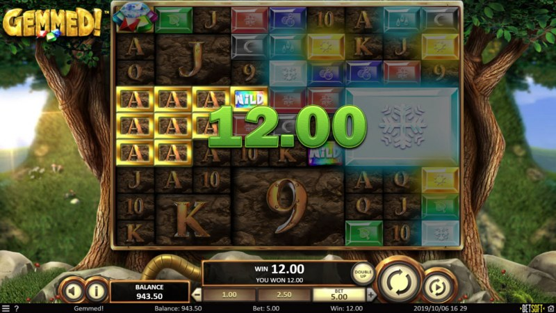 Gemmed! :: Multiple winning paylines