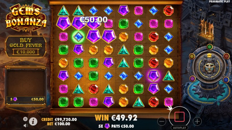 Gems Bonanza :: A cluster win