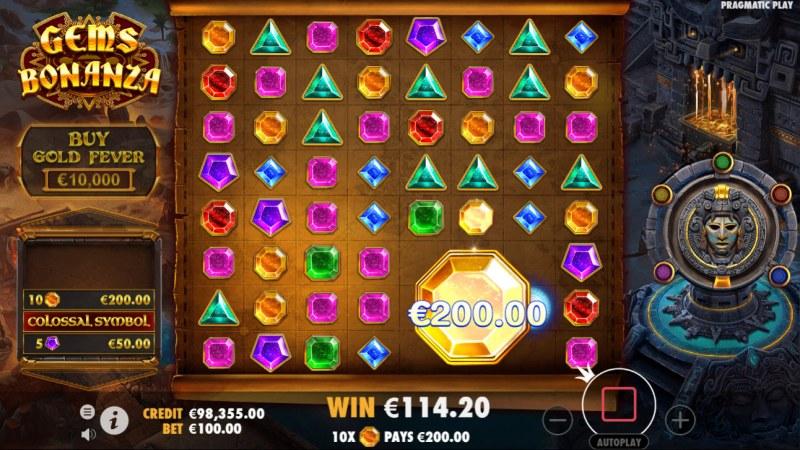 Gems Bonanza :: Colossal symbol win