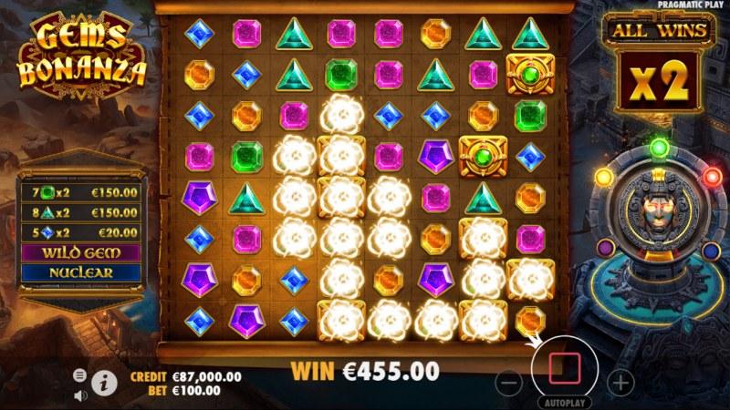 Gems Bonanza :: Multiple winning combinations