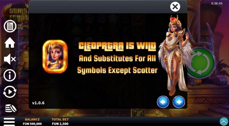 Gems of Egypt Connecta Ways :: Wild Symbol Rules