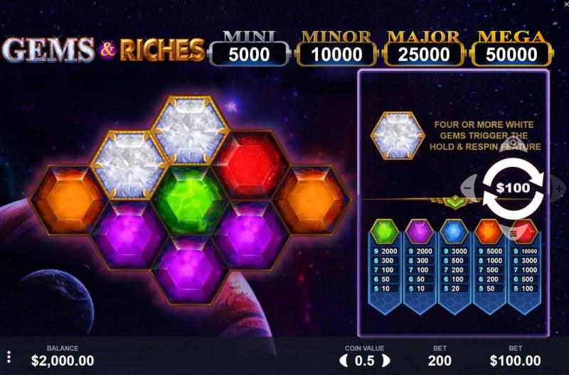 Gems & Riches :: Main Game Board