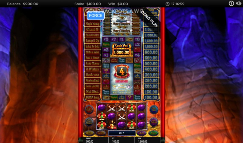 Genie Jackpots Cave of Wonders :: Five of a kind