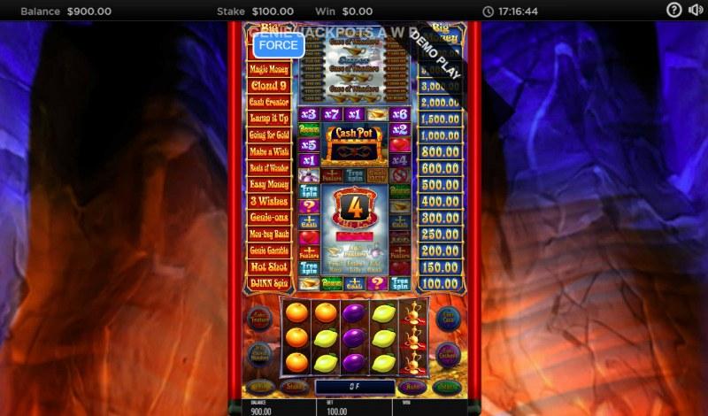 Genie Jackpots Cave of Wonders :: Bonus Feature