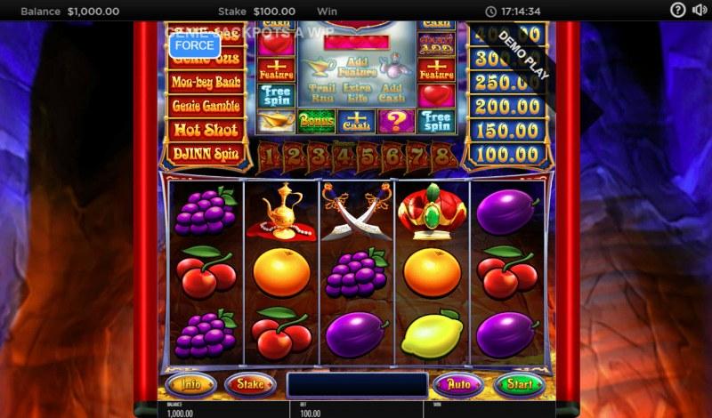 Genie Jackpots Cave of Wonders :: Main Game Board