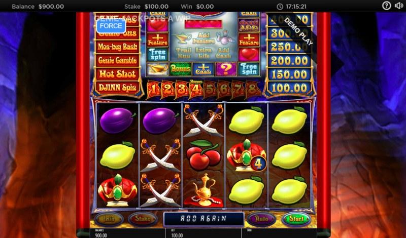 Genie Jackpots Cave of Wonders :: Bonus Win