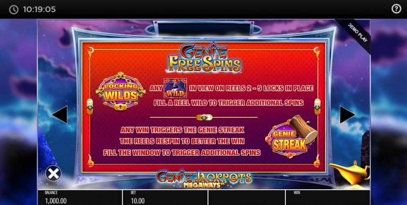 Genie Jackpots Megaways :: Feature Rules
