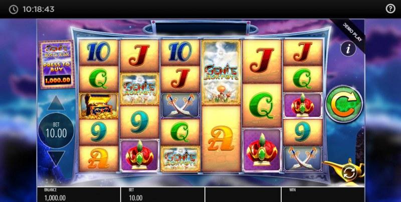 Genie Jackpots Megaways :: Main Game Board