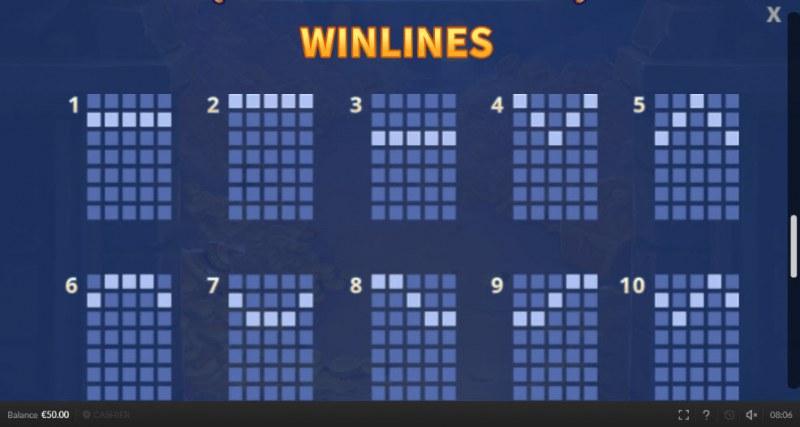 Genie Mega Reels :: Winlines