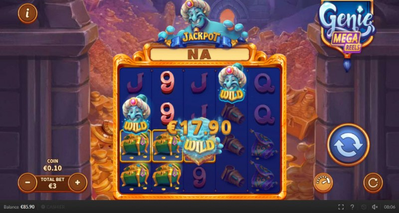 Genie Mega Reels :: Multiple winning paylines