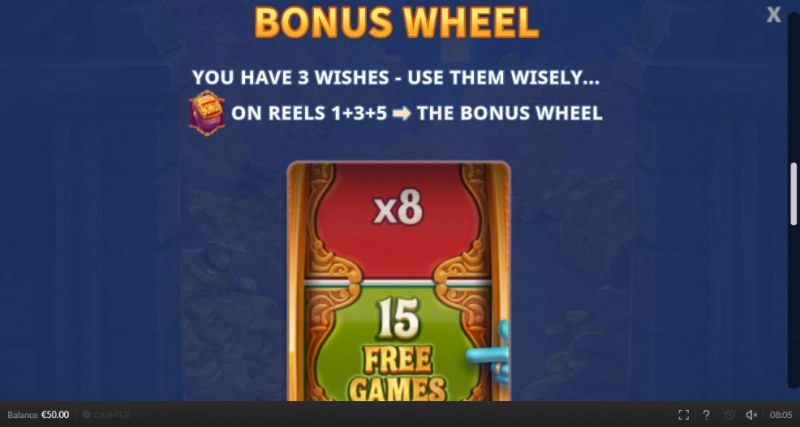 Genie Mega Reels :: Bonus Wheel