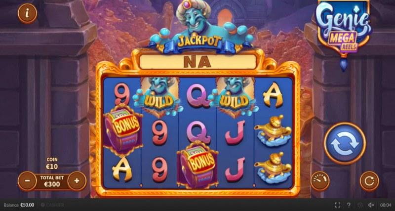 Genie Mega Reels :: Main Game Board