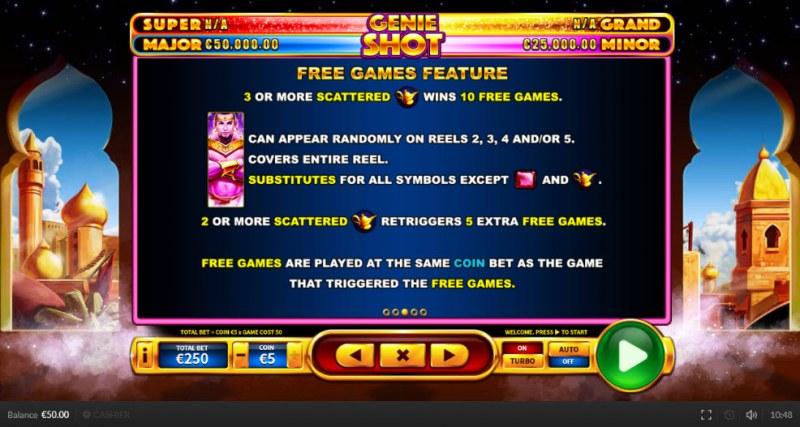 Genie Shot :: Free Spins Rules