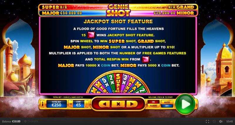 Genie Shot :: Jackpot Shot Feature
