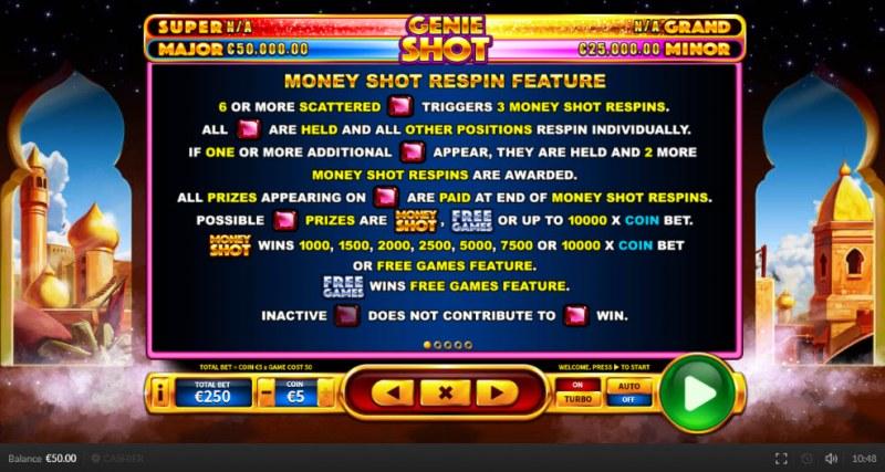 Genie Shot :: Money Shot Respin Feature