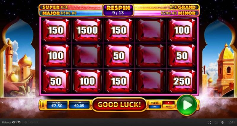 Genie Shot :: Landing additional money symbols remain sticky