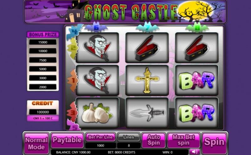 Ghost Castle :: Main Game Board