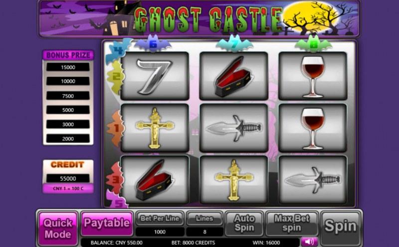 Ghost Castle :: Scatter Win