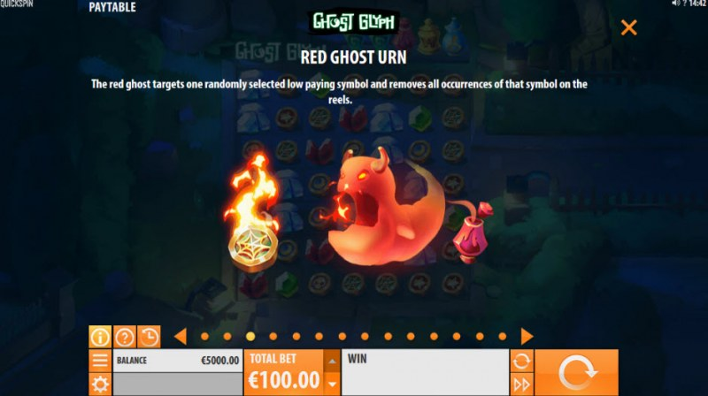 Ghost Glyph :: Red Ghost Urn Feature