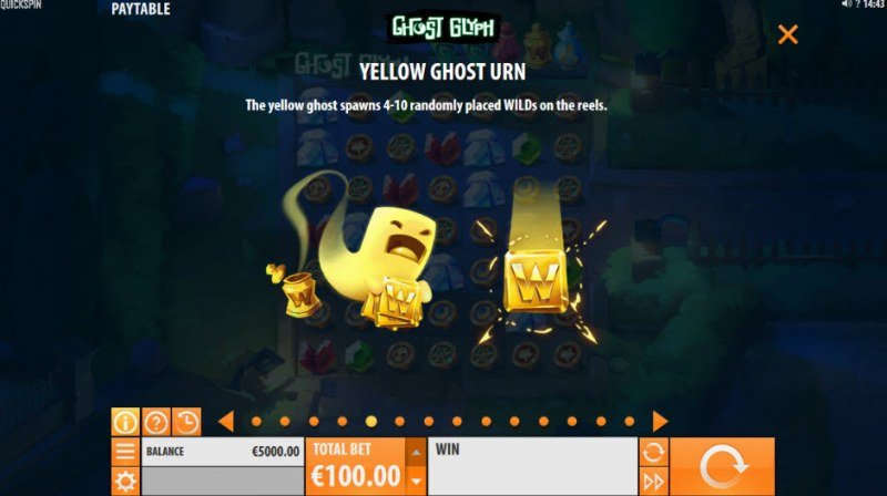 Ghost Glyph :: Yellow Ghost Urn Feature