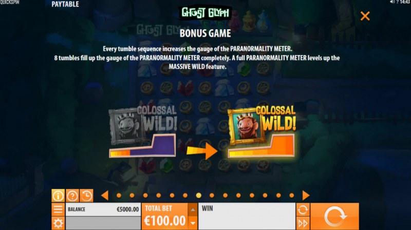 Ghost Glyph :: Bonus Game Rules