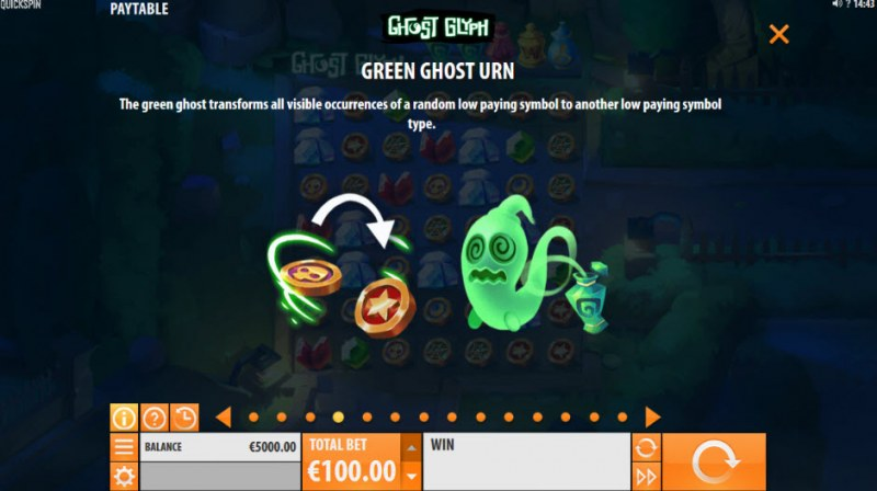 Ghost Glyph :: Green Ghost Urn Feature