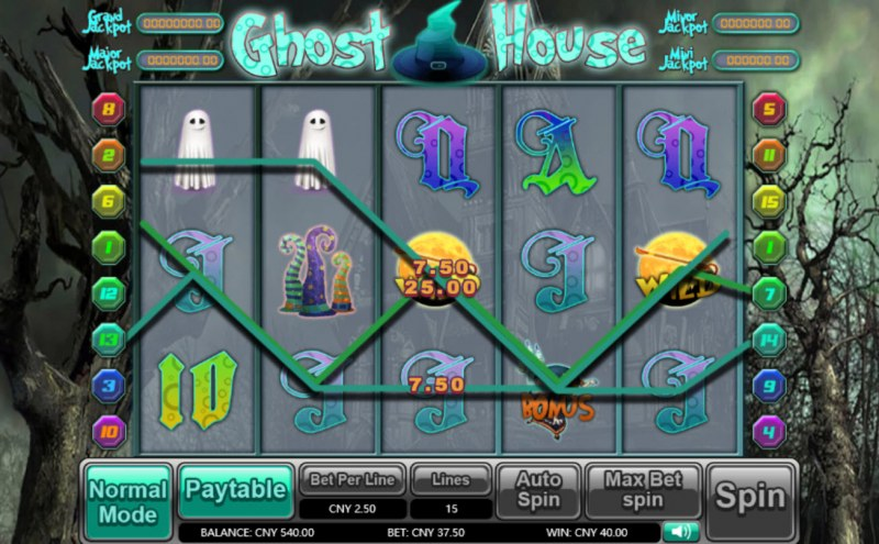 Ghost House :: Multiple winning paylines