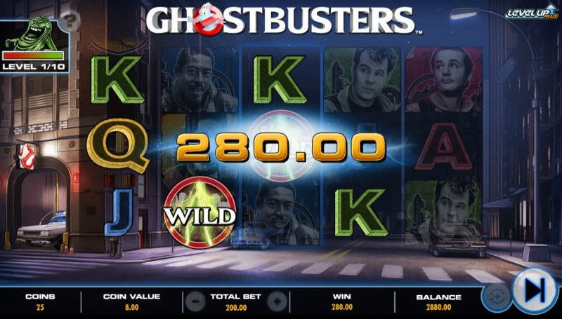 Ghostbusters Level Up Plus :: Multiple winning paylines