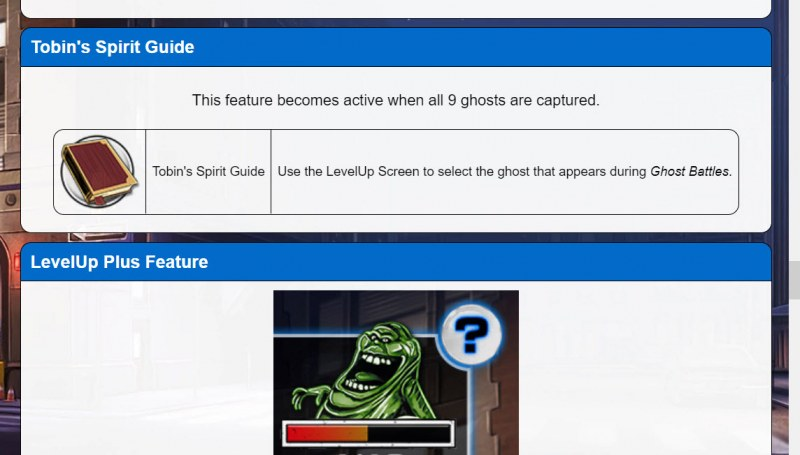 Ghostbusters Level Up Plus :: Feature Rules