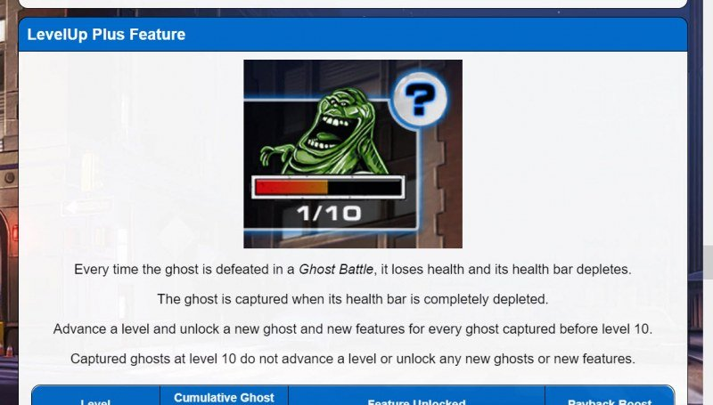 Ghostbusters Level Up Plus :: Level Up Feature