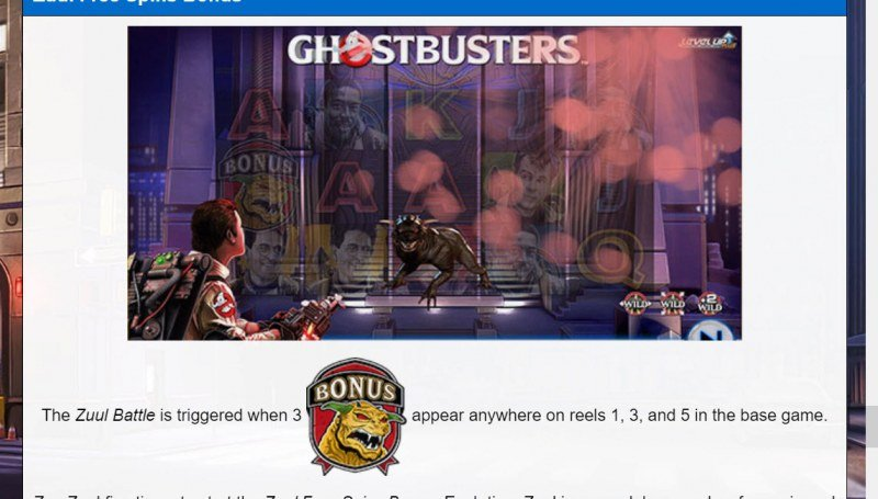 Ghostbusters Level Up Plus :: Free Spin Feature Rules