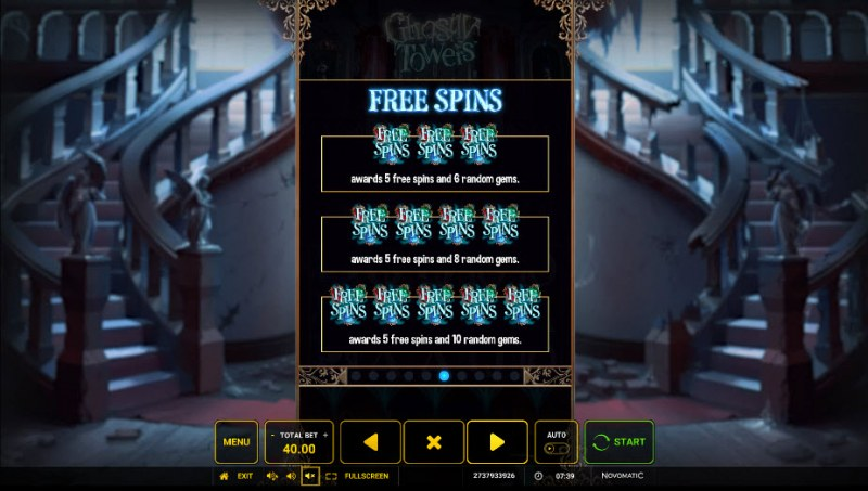 Ghostly Towers :: Free Spins Rules