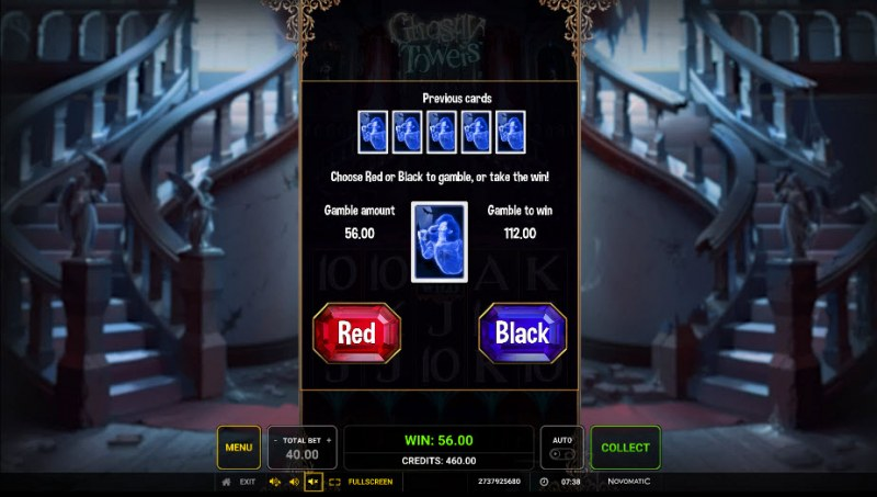 Ghostly Towers :: Gamble Feature Game Board