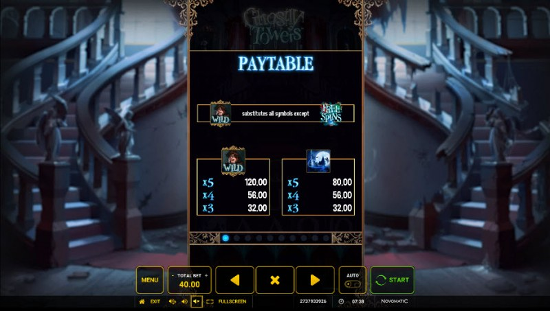 Ghostly Towers :: Paytable - High Value Symbols
