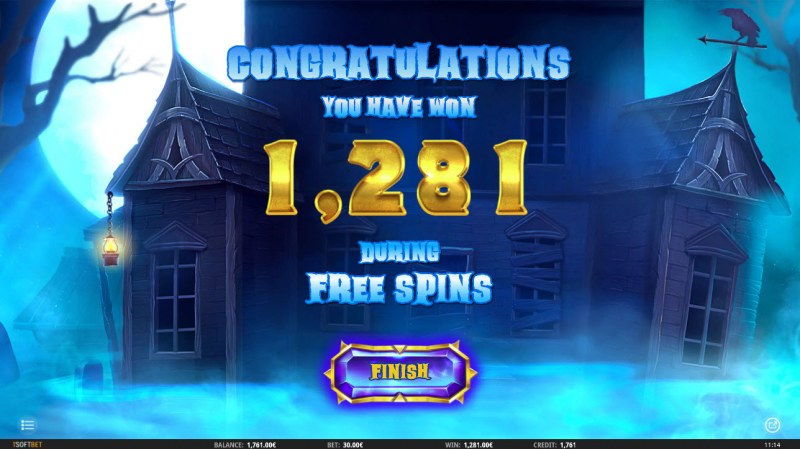 Ghosts 'N' Gold :: Total free spins payout