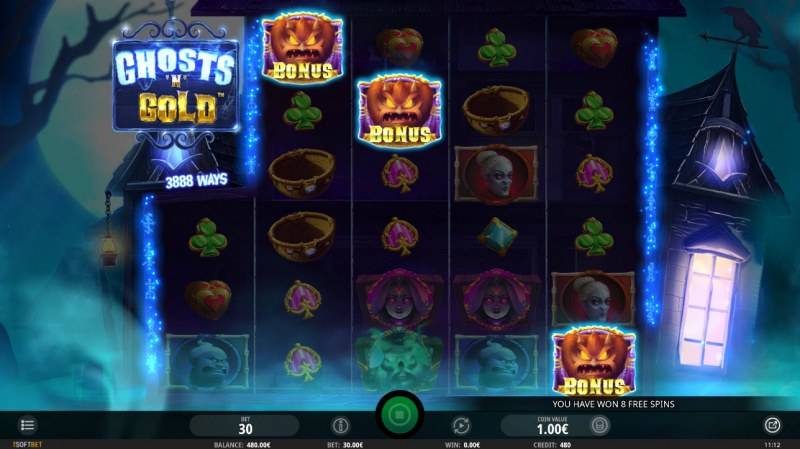 Ghosts 'N' Gold :: Scatter symbols triggers the free spins feature