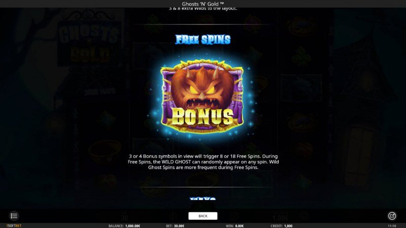 Ghosts 'N' Gold :: Free Spins Rules