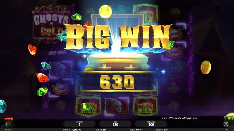 Ghosts 'N' Gold :: Big Win