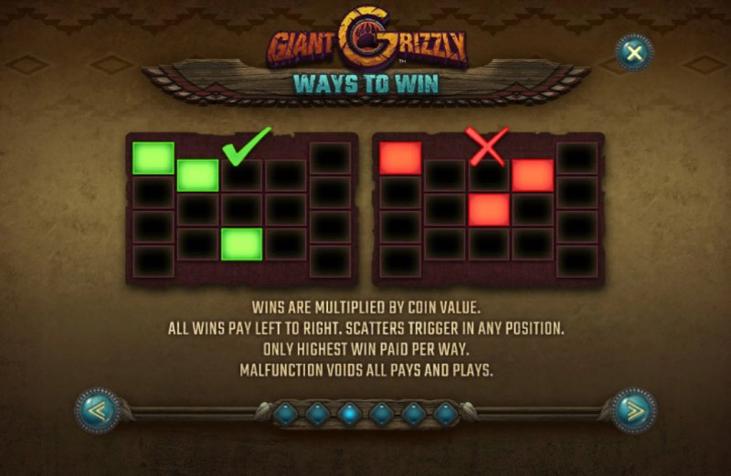 Giant Grizzly :: Ways to Win
