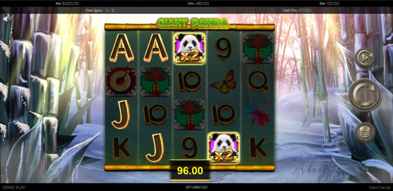 Giant Panda :: Multiple winning combinations