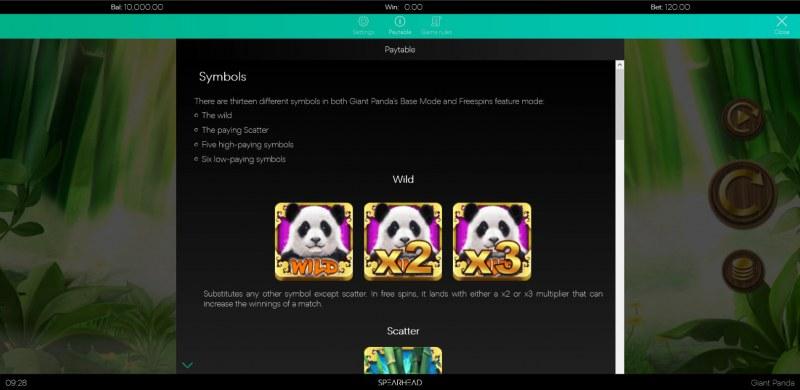 Giant Panda :: Wild Symbol Rules