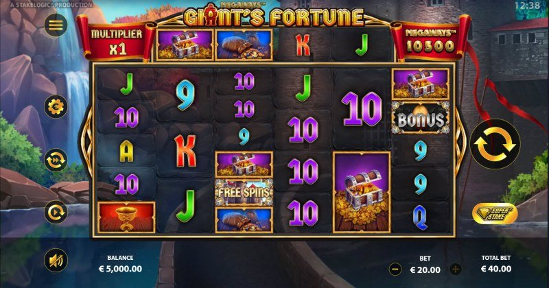 Giant's Fortune Megaways :: Base Game Screen