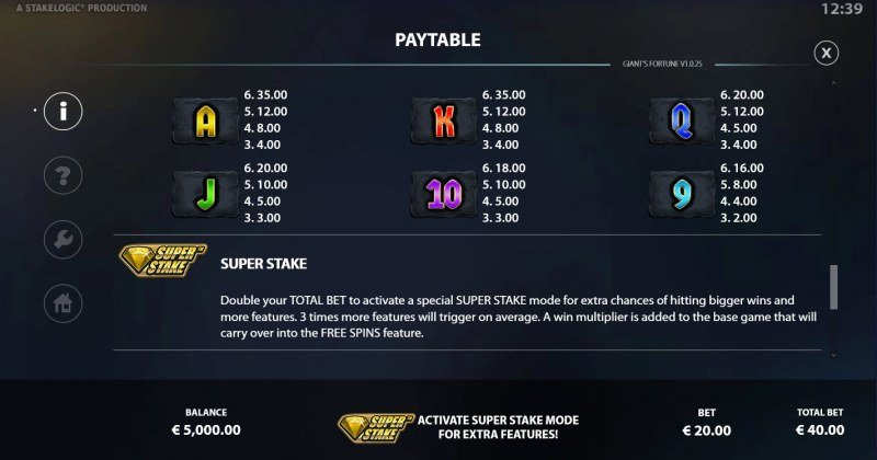 Giant's Fortune Megaways :: Paytable - Low Value Symbols