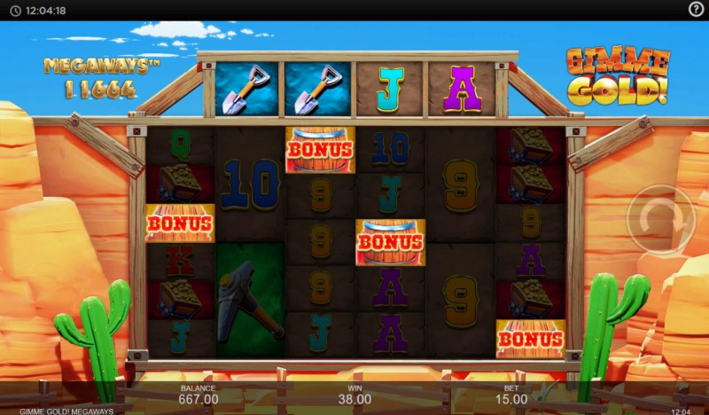 Gimme Gold Megaways :: Scatter symbols triggers the free spins bonus feature