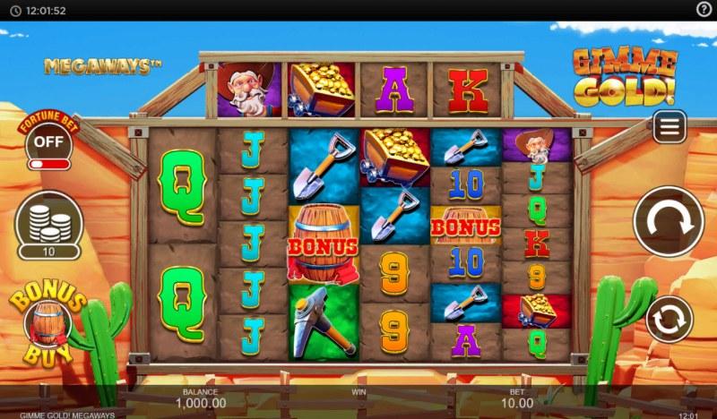 Gimme Gold Megaways :: Main Game Board