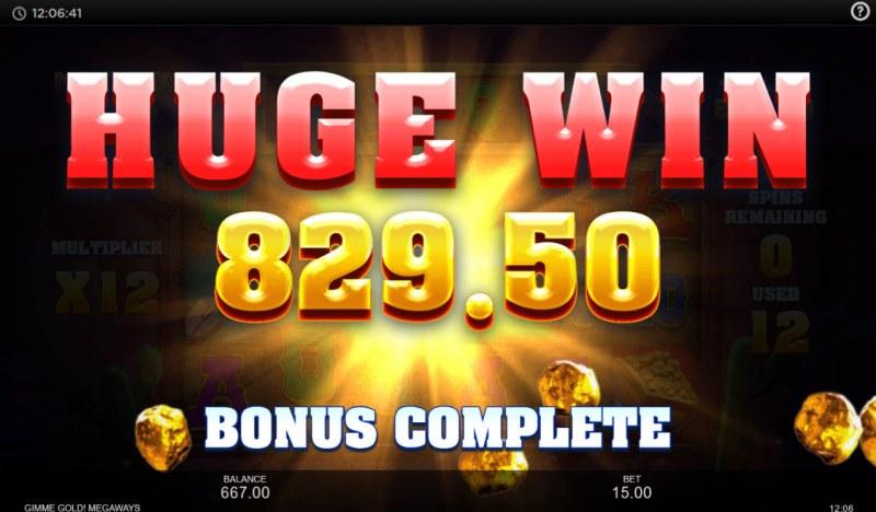Gimme Gold Megaways :: Huge Win