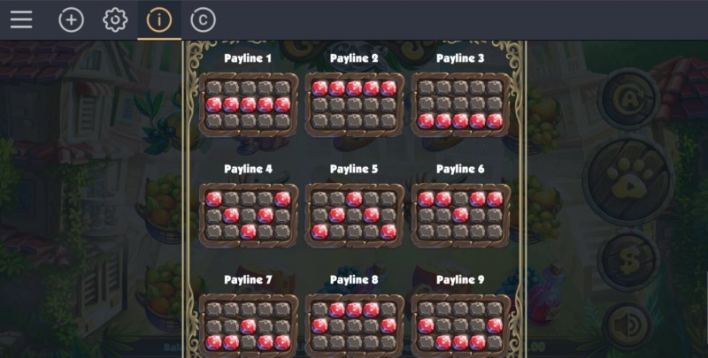 Giovanni's Cat :: Paylines 1-9