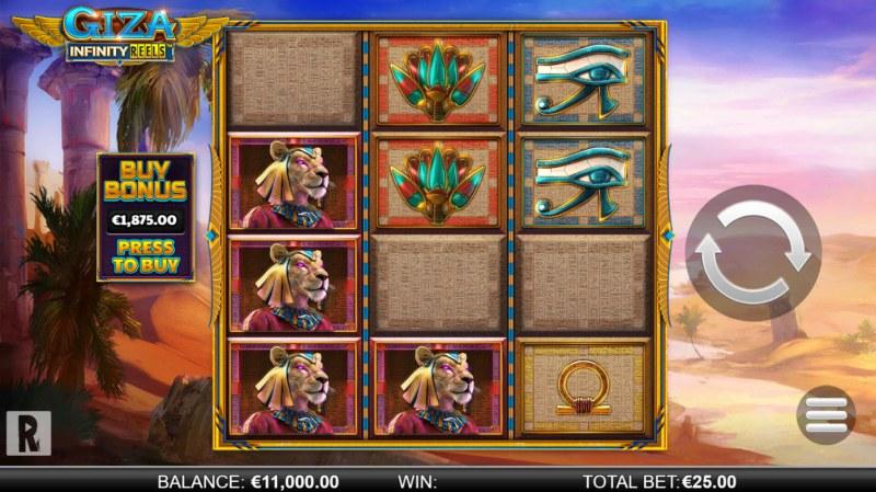 Giza Infinity Reels :: Main Game Board